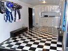 Black and White Checkered Checkerboard FLOORING Continuous Vinyl Roll 7 Sizes