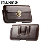 LUXMO Leather Extra Large Mens Cell Phone Belt Clip Card Holster Case Pouch Bag