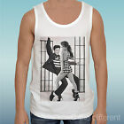"TANK TOP T-SHIRT "" ELVIS DANCE JLO ""GIFT IDEA ROAD TO HAPPINESS"
