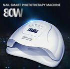 80 Watt Nail Dryer LED UV Lamp Gel Polish Curing Manicure Machine Nail Art Light
