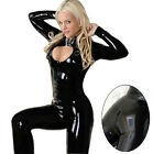 Sexy Latex Rubber Catsuit Wet Look Dress Sexy Nightwear PVC Leather Size S - 4XL
