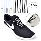 3 Pairs Easy No Tie Shoelaces Elastic Silicone Flat Lazy Shoe Lace Strings Adult