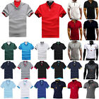 Mens Short Sleeve Polo Shirts Tops T-Shirts Sport Golf Stretch Tee Blouse Casual