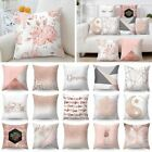 1 Pc Pillow Case Rose Gold Geometric Pineapple Glitter Polyester Sofa Decorative