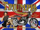 "Triumph x75 Hurricane Triple Motorcycle ""Once a Bik Metal/Steel Wall Sign £13.49 GBP on eBay"