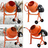 More images of 63L Electric Portable Cement Mortar Plaster Mixer DIY Plaster w 2 Movable Wheels