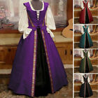 Halloween LADY Gothic Witch Medieval Costume Victorian Renaissance Dress Cosplay