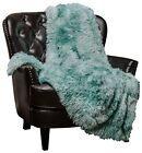 Chanasya Marble Pattern Shaggy Sherpa Throw Blanket for Bed Chair Couch Room