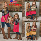 Mommy and Me Striped Dress Mother Daughter Sundress Family Look Matching Outfit
