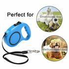 Retractable Dog Leash One Handed Lock Automatic Extending Pet Walking Leads 3/5M