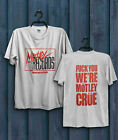 Vintage Motley Crue Records Tour Concert T-shirt Size S to 2XL image