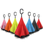 Inverted C-Handle Double Layer Umbrella Windproof Folding Upside Down Revers 3PC