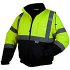 Kyпить Pyramex Hi-Vis Class 3 Insulated Safety Bomber Reflective Jacket ROAD WORK на еВаy.соm
