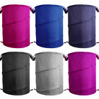 Clothes Washing Laundry Bag Bin Reusable Mesh Zipped Pop Up Collapsible Basket
