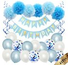 Happy Birthday Party decorations Banner Bunting Balloons Child Adult 1st-70th