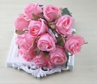 13 Color 12Head Silk Rose Flowers Floral Bridal Wedding Bouquet Home Party Decor