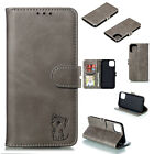 Magnetic Leather 3D Cat Embossed Flip Cover Case For iPhone 11 Pro XR 6 7 8 Plus