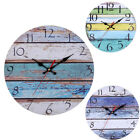 Pastoral Style Creative Mute Home Wall Clock Living Room Bedroom Decoration