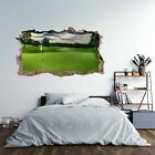 Golf Course Theme 3D Hole in The Wall Effect Self Adhesive Wall Decal Art Sti...