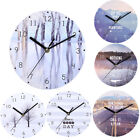 European Creative Mute Digital Round Home Wall Clock Living Room Decoration
