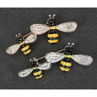 Equilibrium Silver Plated Or Rose Gold Plated Double Bee Brooch 284625 Boxed