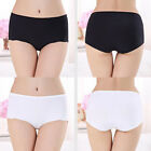 Women Solid Color Ice Cotton Polyester Underpants Underwear Casual Low Waist New
