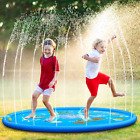 Kid's Outdoor Water Sprinkler Splash Pad Colorful 68 Inches Splash Play Mat Idea