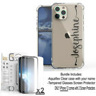 For iPhone 12 11 Pro Max XS XR 8 7 SE Personalize Custom Name Slim Case Cover