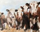 Cows Art PRINT Wall Art from original oil painting by James Coates 175
