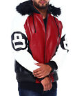 Robert Phillipe 8 Ball Red/Black Leather Jacket $109.95 USD on eBay