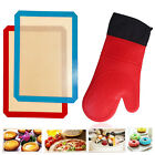 Silicon Heat Resistant Oven Gloves Mitts Hand Kitchen Cooking Baking BBQ Grilled