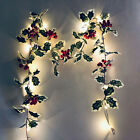 Red Berry LED Fairy String Lights Xmas Christmas Garland Ornaments Decoration UK