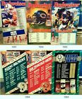 Budweiser NFL Team Schedule Poster Vintage 90's Football Sign Bud Light Ice Dry $29.99 USD on eBay