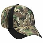 Wholesale 12 x Camouflage Piping Design Cotton Twill 6 Panel Low Profile Basebal