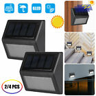 6 LED Solar Powered Auto On/Off Light Outdoor Garden IP65 Security Flood Lamp US