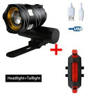 2x Rechargeable 15000LM XM-L T6 LED MTB Bicycle Light Bike Front +Rear Headlight