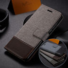 Fr iPhone 11 Pro Max Magnetic Luxury Canvas Flip Leather Wallet STAND Case Cover