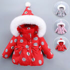 Fashion Baby Hooded Coat Infant Toddler Girls Padded Jacket Thick Snow Outerwear