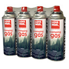 CAMPING GAS CANISTERS BUTANE BOTTLES COOKING STOVE 4 PACK