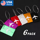 6xtravel Aluminium Plane Luggage Tags Suitcase Label Name Address Id Baggage Tag