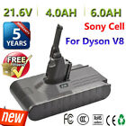 Sony Cell Battery For Dyson V8 Absolute Handheld Vacuum Cleaner 4000mAH 6000mAh