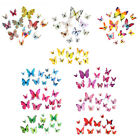 12pcs Fridge Magnet Sticker 3d Butterfly Adhesive Wall Stickers Room Decor