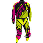 FXR Racing MX Clutch Prime Yellow Fluo Pink Motocross Gear Kit Combo Enduro