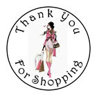 30 THANK YOU FOR SHOPPING 1.5 INCH LABELS ROUND STICKERS