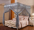 4 Corners Bed Canopy Curtain Mosquito Netting Or Frame Twin Full Queen King Size image
