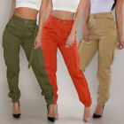 Womens Sexy High Waist Pants Slim Fit Solid Bottoms Casual Jogger Retro Trousers