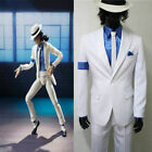 Michael Jackson Smooth Criminal White Suit Uniform Cosplay Costume