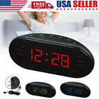 AM/FM Alarm Digital Clock Radio with LED Display/ Snooze Alarm for Bedside Table