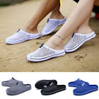 Fashion Mens Slippers Hollow Beach Sandals Clogs Holiday Garden Holes Flat Shoes