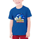 Sonic Kids Boys Casual Cotton T-Shirt Crew Neck Short Sleeve Funny Cartoon Tops